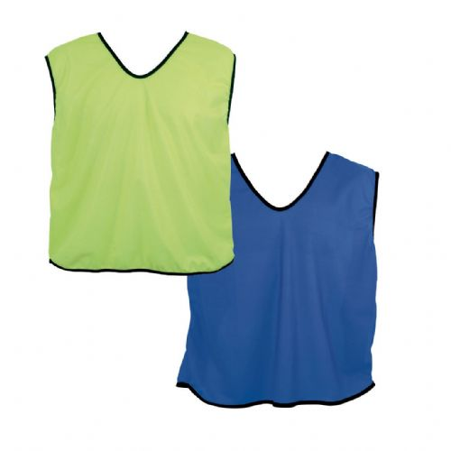 Reversible Mesh Training Bib (XS) - Yellow/Royal